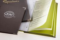 Hardcover Direct-System. Transparentseiten effektvoll mit Trennbogen - farblich passend zum Umschlag - unterlegt / Bildquelle: Fluhrer-Verlag GmbH