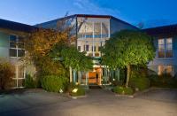 Abendliche Außenansicht vom Best Western Hotel Dasing-Augsburg