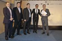 Bar Cup — Rui Serra, London Hilton on Park Lane Von links: Simon Vincent, James Glover, Didier Martin, Gregory Pigier, Rui Serra