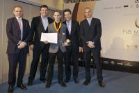 Service Cup — Thomas Minihold, Hilton Vienna Plaza Von links: Simon Vincent, James Glover, Thomas Minihold, Olivier Harnisch, Fred Sirieix