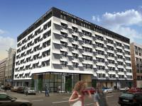 Die Gestaltung des Hotels hat sich dem Thema Literatur gewidmet: Die einzigartige Fassade erscheint wie ein Ensemble aus Buchseiten und im Inneren wurden Stockwerke, Flure und Zimmer nach unterschiedlichen Gattungen oder Werken der Literatur benannt / Bil