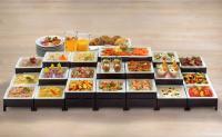 Das Frühstücksbüffet von Grossmann Feinkost. Feinschmecker lassen sich gerne von Kreationen wie Arancia-Lachs mit Orangen- und Zitronenraspeln oder frischen Nordseekrabben in leichter Salatmayonnaise überraschen; Bildquelle Grossmann