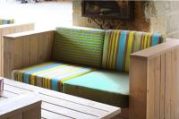 Für die Outdoor-Lounge: Loungesofa 40982 und Tisch 30110