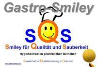"""Prüfsiegel """"Gastro-Smiley"""" / Copyright: Gesellschaft für Qualitätssicherung im Hotel mbH"""