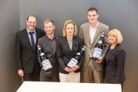 Johannes Steinmetz, Timo Neidhardt, Gina Duesmann, Panagiotis Adiopoulos, Dr. Sabine Dyas / Foto: Kreklau
