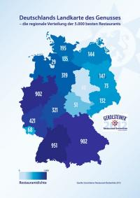 Restaurantdichte der TOP Haute Cuisine Adressen in Deutschland, Bildquellen PR-Beratung, Konzept, Text & Redaktion