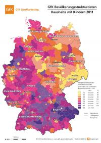 GfK Bevölkerungsstrukturdaten 2011; Haushalte mit Kindern