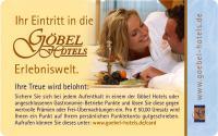 Goebel Hotels CARD 2012 / Bildquelle: Alle Göbel Hotels