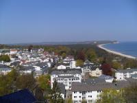 Ausblick vom Hotel Hanseatic Rügen auf einen Teil von Göhren und den Strand