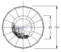 Schematische Darstellung eines Gardierwerkes von oben
