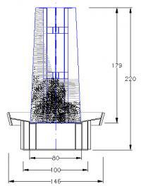 Schematische Darstellung eines Gardierwerkes von der Seite