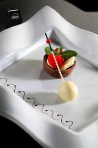 Schoko-Dessert Tartelette PinaColada