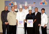 Von links nach rechts: Joachim Feinauer (Jury), Walter Bauhofer (Jury), Thomas Wiese (4. Sieger), Steven Hinzmann (3. Sieger), Johannes Goll (1. Sieger), Karim Robert Schumann (2. Sieger), René Keller (HUG AG), Karl-Emil Kuntz (Jury)
