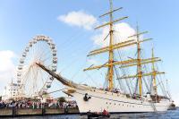 Bei der Hanse Sail ist viel Betrieb im Rostocker Hafen. Copyright: Archiv Hanse Sail Rostock