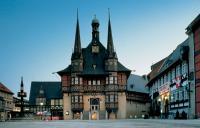Rathaus Wernigerode in Abendstimmung