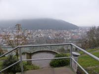 Anstieg auf die Tromm und den Odenwald in Heidelberg Neunheim, unten fließt der Neckar; Bildquelle Wolfgang Ahrens Hotelier.de