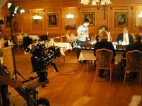 Die stimmungsvolle Szene Im Restaurant wird gedreht, jetzt muss alles top rüberkommen!