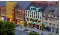 Das Hotel Tiefenthal von der Christiskirche in Hamburg Wandsbek aus gesehen; Quelle Hotelarchiv