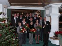 Die Geehrten mit Patron Heiner Finkbeiner (ganz rechts)