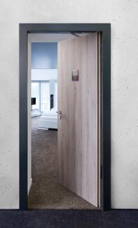 """Preisträger bei der Intergastra: Die """"Hotel-Tür"""" von Häfele im Hotel ibis Styles Nagold-Schwarzwald"""