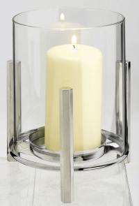 Lichterglanz und Kerzenschein durch das Glasteelicht