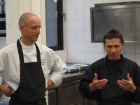 Für die kulinarischen Höhepunkte sorgen (v.l.) Chef-Pâtissier Michael Stahl und Sternekoch Ulrich Heimann
