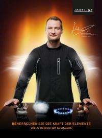 Sternekoch Sebastian Frank mit der Kochjacke J1 Revolution / Bildquelle: Alle Jobeline