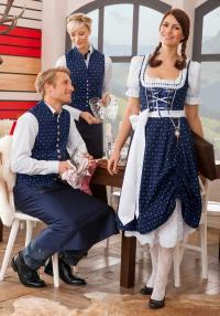 Kurz-Dirndl LOTTA und Damen- und Herrenweste LENZ / Bildquelle: Alle Jobeline