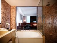 Badezimmer im Delux-Room