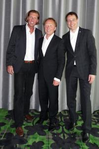 Carsten K. Rath, Kurt Wagner und Thomas Kleber (v.l.n.r.) / Bildquelle: LH&E Group