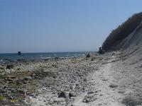 Der schöne Strandabschnitt bei Kap Arkona