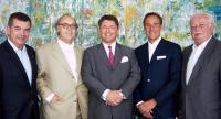 Friedrich Gruber (Geschäftsführung PORR Solutions), Franz Jurkowitsch (Ambo GesmbH), Karl-Heinz Strauss (Vorstandsvorsitzender A. PORR AG), Rupert Simoner (Kempinski), Georg Folian (Ambo GesmbH) / Bildquelle: Kempinski Hotels