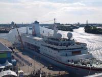 Das Traumschiff MS Deutschland im Hamburger Hafen / Alle Fotos © Sascha Brenning - Hotelier.de