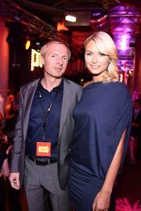 Lena Gercke und Peter Voit (ex Geschäftsführer aller pentahotels, jetzt Immobilienmanagement) bei der Eröffnung des Pentahotels Vienna