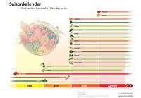 Mit Spargel und Spinat beginnt in Deutschland die Saison für Freilandgemüse. Hochsaison ist im Sommer / Infografik: Lusini.de.
