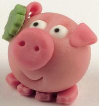 Endlich einmal ein Marzipanschweinchen, dass neben der Leckerei auch noch gut aussieht!
