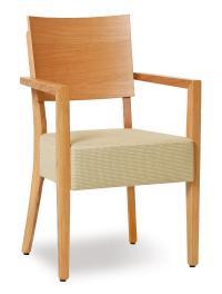 Eiche elegant interpretiert - der Vollpolsterstuhl Milia bietet nicht nur durch sein Sitzpols-ter, sondern auch durch seine Dampf gebogene Formholz-Rückenlehne einen hohen Sitzkomfort