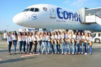 Die Teilnehmerinnen der Miss Condor Wahl