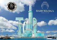 Das Mobilona Space Hotel auf Barcelona Island. Der 300-Meter (984 Fuß) hohe Galaxy-Tower von Architekt ERIK MORVAN wird das höchste Hotelgebäude Europas / Bildquelle: www.barcelonaisland.com