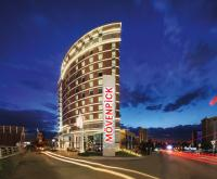 Bestes Hotel mit in Ankara: Exterior at night Mövenpick Hotel Ankara tuerkey, alle Bildquelle Prima PR, Mövenpick Hotels & Resorts Management AG