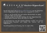Gastro-Stipendium 2012 von Orderman