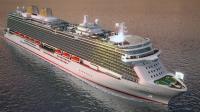 Derzeit im Bau: das neue P&O-Flaggschiff Britannia (Animation) / Bildquelle: INEX Communications GmbH