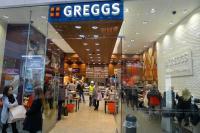 Greggs, Englands größte Bakery-Kette mit ihrem Store in der Westfield Mall in Stratford