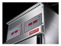 Einfache, reinigungsfreundliche und übersichtliche Bedienoberfläche als Folientastatur mit digitalen Anzeigen in 2 Varianten flächenbündig in Bedienblende integriert. Höchster Bedienkomfort