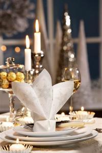 Tipps vomn PAPSTAR zu Weihnachten: Zwischen den Kerzen mindestens 10 Zentimeter Abstand lassen, sonst entsteht eine zu hohe Wärme und die Kerzen verformen sic