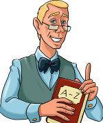 Professor Allwissend - die Identifikationsfigur von Hotelier.de für den Wissensbereich Lexikon (Hotellerie, Gastronomie, Tourismus), Copyright © HSI Hotel Suppliers Index Ltd