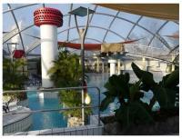 Das Sport- und Freizeitbad monte mare Kreuzau zählt zu den größten Energieverbrauchern der Region. Für eine wirtschaftliche und umweltschonende Strom- und Wärmeversorgung sorgt der Einsatz eines BHKW im Contracting; Bild RWE ED