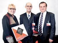 Annemarie Heinrichsdobler / Chefredakteurin GVmanager, Michael Fuchs / Vice President DACH und Dr. Günter Blaschke/Vorstandsvorsitzender
