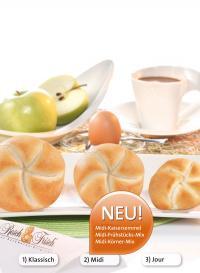Perfekte Alternative für das Frühstücksbuffet — das neue Midi-Sortiment / Bildquelle: Resch&Frisch