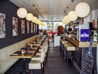 Das modern eingerichtete italienische Restaurant